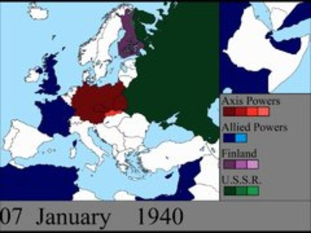 World War II in Europe: Day by Day change in Map - Snotr