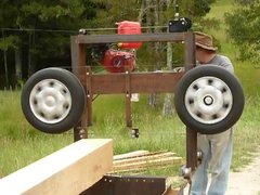 Thumbnail of Homemade band saw mill