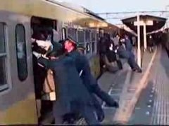 Thumbnail of Crowded Japanese train