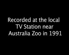 Thumbnail of A young Steve Irwin gets bitten by a snake on television