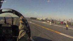Thumbnail of F-18 Catapult Launch (Cockpit Footage)