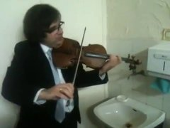 Thumbnail of Triple concerto for faucet, water pipes and fiddle.