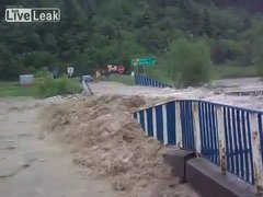 Thumbnail of Flood washes away a bridge