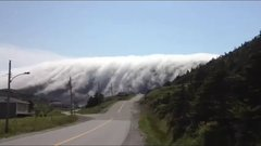 Thumbnail of Fog rolling over mountains in Newfoundland