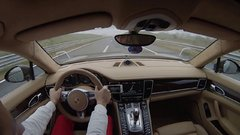 Thumbnail of Porsche Panamera Turbo 317km/h on Kosovo highway
