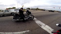 Thumbnail of Cool cop agrees to race a guy riding a honda sports bike