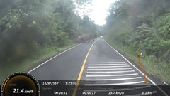Thumbnail of Biker makes a FAST U-turn..