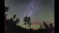 Thumbnail of Meteor explosion Milky Way Time Lapse