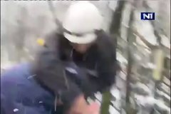 Thumbnail of Serbian minister of energetics almost killed when ice ball hit him on head