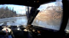 Thumbnail of RC car falls into frozen lake, RC truck comes to the rescue