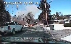 Thumbnail of House explosion caught on dashcam