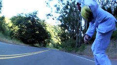 Thumbnail of Awesome downhill skateboarding