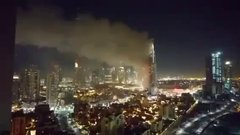 Thumbnail of Address hotel in Dubai on fire but countdown and fireworks didn't stop