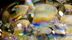 Thumbnail of Soap Bubbles | Macro Video of Iridescent Soap Bubbles