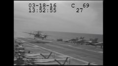 Thumbnail of New footage of the E-2 cable snap while landing on the USS Eisenhower in March 2016