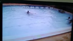 Thumbnail of Earthquake in swimming pool