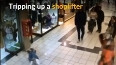 Thumbnail of Elderly Chilean man injures himself stopping shoplifter