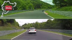 Thumbnail of Very FAST Biker on BMW S1000-RR meets Megane RS - Nürburgring Nordschleife
