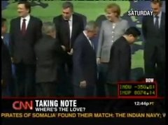 Thumbnail of Bush ignored by the other world leaders at the G20 meeting