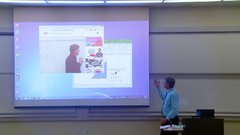 Thumbnail of Math Professor Fixes Projector Screen (April Fools Prank)