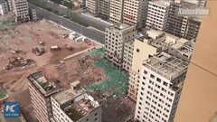 Thumbnail of 36 buildings demolished in about 20 seconds in Chinese city