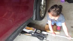 Thumbnail of Lazy dad gets 3yr old daughter to do an oil change