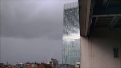 Thumbnail of Beetham Tower in Manchester, UK 'humming' during high winds at around 1.30pm on Sunday 29th November