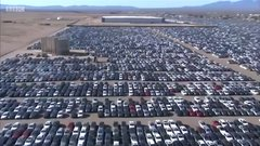 Thumbnail of Volkswagen's car 'graveyard' in California - BBC News