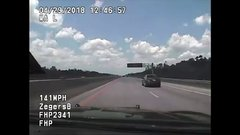 Thumbnail of Florida Highway Patrol Pursuit Hits 142 MPH, Then Cruiser Catches Fire
