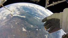 Thumbnail of Amazing footage of Earth during a spacewalk on ISS