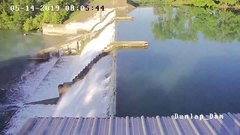 Thumbnail of Video shows moment dam gate collapsed at Lake Dunlap
