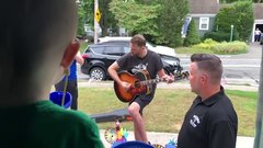 Thumbnail of Dropkick Murphys perform outside home of boy, 3, battling cancer