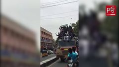 Thumbnail of People fall from Bus Top