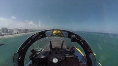 Thumbnail of Cockpit View. US Navy Blue Angels Team Highlights