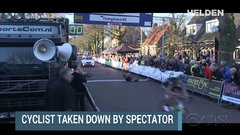 Thumbnail of Spectator Knocks Out Cyclist Right Before the Finish Line