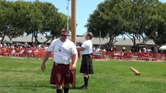 Thumbnail of Daniel Mckim ( World Champion ) Caber Toss ... The clock strikes 12