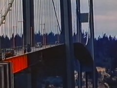 Thumbnail of Colour footage of the Tacoma Narrows bridge