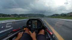 Thumbnail of Glider Touchdown in Rain | 15 m LS8-e neo | Pavullo