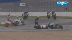 Thumbnail of An unusual crash for two race bikes