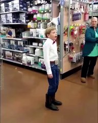 Thumbnail of Little kid yodeling at Walmart
