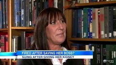 Thumbnail of This woman donated her kidney to save her boss and then got fired.