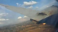 Thumbnail of One of the passengers took a video from inside a crashing plane. Pretoria, South Africa