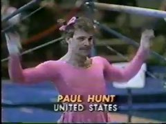 Thumbnail of 1981 Nadia Tour gymnastics Paul Hunt comedy uneven bars