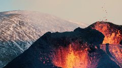 Thumbnail of Sounds of Lava - From the volcano in Geldingadalur, Iceland 2021 - 4K w. sound