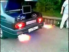 Thumbnail of Pimped Lada catches fire