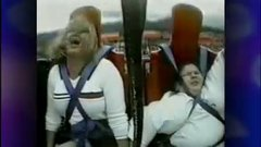 Thumbnail of Fat kid squeezed in amusement ride