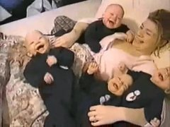 Thumbnail of Quadruplet babies laughing