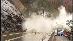 Thumbnail of Rockslide in Tennessee closes road