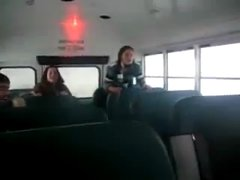 Thumbnail of Girl hits roof on school bus