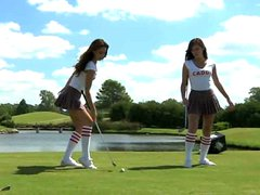 Thumbnail of Cute Golf Juggling Girls